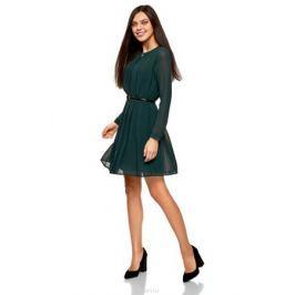 Платье oodji Collection, цвет: морская волна. 21913017/17358/6C00N. Размер 40-170 (46-170) Женская одежда