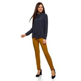 Блузка женская oodji Collection, цвет: темно-синий, белый. 21411094/36215/7912D. Размер 44-170 (50-170) Женская одежда