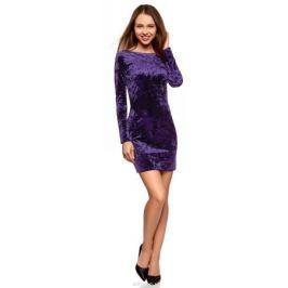 Платье oodji Ultra, цвет: темно-фиолетовый. 14000165-3/47508/8800N. Размер XS (42)