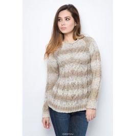 Джемпер женский F5, цвет: бежевый. 276108_beige stripes. Размер XL (50) Женская одежда