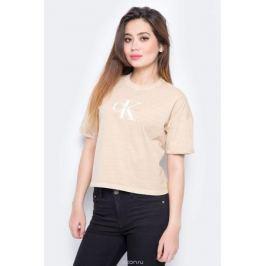 Футболка женская Calvin Klein Jeans, цвет: бежевый. J20J206445_0150. Размер L (46/48) Женская одежда