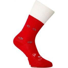 Носки женские oodji, цвет: красный, белый. 57102449-1/46590/4512P. Размер 38/40 Женская одежда