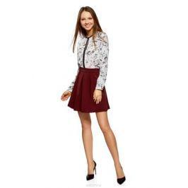 Юбка oodji Ultra, цвет: бордовый. 11600396-1B/42250/4900N. Размер 34 (40-170) Женская одежда