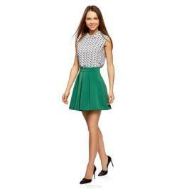 Юбка oodji Ultra, цвет: темно-изумрудный. 11600396-1B/42250/6E00N. Размер 34 (40-170) Женская одежда