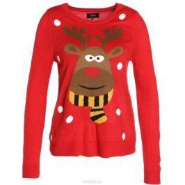 Джемпер женский Only, цвет: красный. 15140577_Samba. Размер M (46) Женская одежда