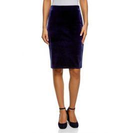 Юбка oodji Collection, цвет: темно-синий. 24101048-2/46056/7902N. Размер XS (42) Женская одежда