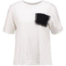 Футболка женская Only, цвет: белый. 15152454. Размер XS (40)