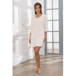 Халат женский Cleo, цвет: молочный. 257. Размер 50 Женская одежда