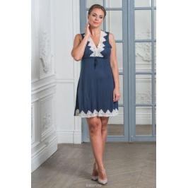Ночная рубашка женская Cleo, цвет: синий. 267. Размер 50 Женская одежда