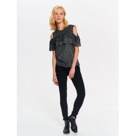 Блузка женская Top Secret, цвет: черный. SBW0383CA. Размер 42 (50)
