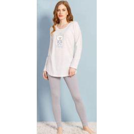 Домашний комплект женский Vienetta's Secret, цвет: молочный. 706098 1181. Размер 50
