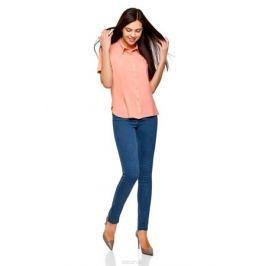 Блузка женская oodji Ultra, цвет: персиковый. 11411137B/14897/5400N. Размер 40-170 (46-170)
