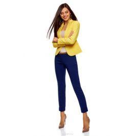 Жакет женский oodji Ultra, цвет: лимонный. 11200286B/14917/5100N. Размер 36-170 (42-170)