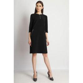 Платье Finn Flare, цвет: черный. B18-11041_200. Размер M (46)