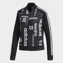 Толстовка женская adidas W Fav Bomber Tt, цвет: черный. CV7305. Размер S (42/44)