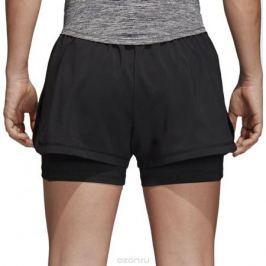 Шорты женские adidas 2In1 Short W, цвет: черный. CD6413. Размер M (46/48)
