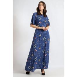 Платье Finn Flare, цвет: синий. B18-12065. Размер M (46)