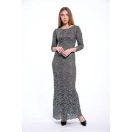 Платье Lusio, цвет: темно-серый. AK18-020334. Размер S (42/44)