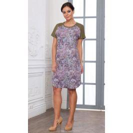 Платье домашнее Cleo, цвет: сиреневый. 685. Размер 52