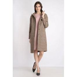 Пальто женское Finn Flare, цвет: светло-коричневый. B18-32009. Размер S (44)