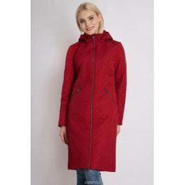 Пальто женское Finn Flare, цвет: гранатовый. B18-11027_303. Размер L (48)