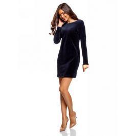 Платье oodji Ultra, цвет: темно-синий. 14000165-2B/47883/7900N. Размер XXS (40)