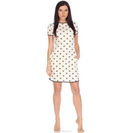 Платье домашнее Letto, цвет: бежевый. TFdm007. Размер 52