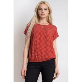 Блузка женская Finn Flare, цвет: красный. B18-12094_328. Размер L (48)