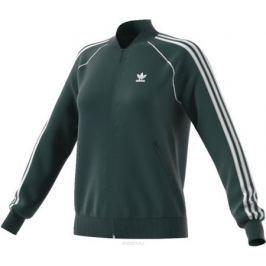 Толстовка женская Adidas Sst Tt, цвет: темно-зеленый. CE2396. Размер 38 (46)