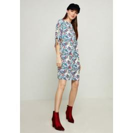 Платье Zarina, цвет: белый, голубой. 8123002502004. Размер 46