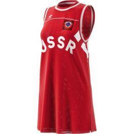 Платье Adidas Tank Dress Rus, цвет: красный. CE2309. Размер 36 (44)