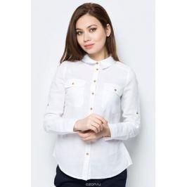 Блузка женская Sela, цвет: белый. B-112/294-8152. Размер 50 Женская одежда