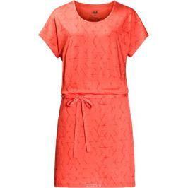 Платье Jack Wolfskin Shibori Dress, цвет: коралловый. 1504302-7743. Размер XXL (56)