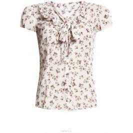 Блузка женская oodji Collection, цвет: белый, розовый. 21406022-3M/10466/1241F. Размер 46-170 (52-170)