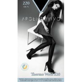 Колготки женские Argentovivo Thermo Wool 220, цвет: Nero (черный). 31460. Размер 5 (50/54)