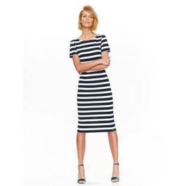 Платье женское Top Secret, цвет: темно-синий, белый. SSU2087GR. Размер 42 (50)