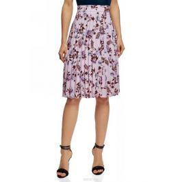 Юбка oodji Collection, цвет: светло-розовый, сиреневый. 21606020-7/42526/4080F. Размер 44 (50-170)