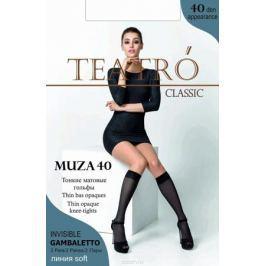 Гольфы женские Teatro Muza 40, цвет: Nero (светло-коричневый), 2 пары. Размер универсальный