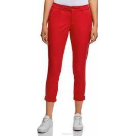 Брюки женские oodji Ultra, цвет: красный. 11706207B/32887/4501N. Размер 44 (50-170)