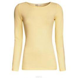 Лонгслив женский oodji Collection, цвет: светло-желтый. 24201007B/46147/5000N. Размер XS (42)