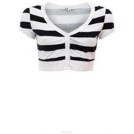 Болеро oodji Ultra, цвет: белый, черный. 11300360/24834/1029S. Размер 34-170 (40-170)