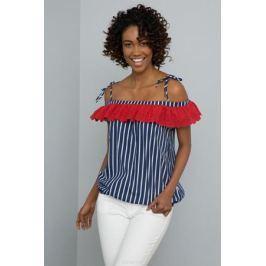 Блузка женская U.S. Polo Assn., цвет: темно-синий. G082SZ0040BEN. Размер 40 (48)
