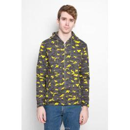 Толстовка мужская Calvin Klein Jeans, цвет: темно-серый, желтый. J3IJ303874_0680. Размер M (46/48)