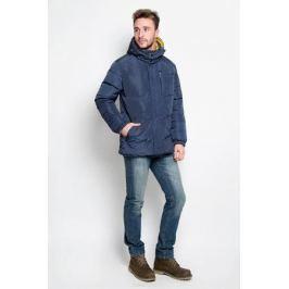 Куртка мужская Sela Casual Wear, двухсторонняя, цвет: темно-синий, желтый. Cd-226/354-6414. Размер L (50)