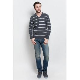 Джемпер мужской D&H Basic, цвет: белый, темно-серый. А6000904. Размер XL (54)