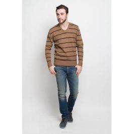 Джемпер мужской D&H Basic, цвет: коричневый, черный. А6000901. Размер XL (54)