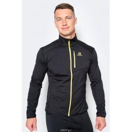 Толстовка для бега мужская Salomon Discovery FZ, цвет: черный. L39278400. Размер XL (56/58)