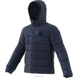Пуховик мужской Adidas Fcb Ssp Dwn Jk, цвет: темно-синий. BQ4855. Размер 3XL (64/66)