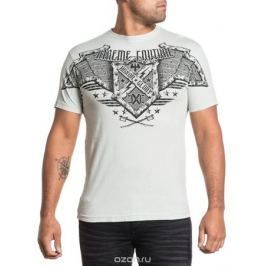Футболка мужская Affliction Xtreme Couture Bomber, цвет: серый. X1521. Размер 2XL (54) Мужская одежда