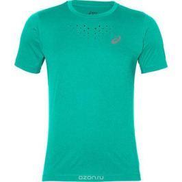 Футболка для бега мужская Asics Stride SS Top, цвет: бирюзовый. 141198-4031. Размер XL (54)